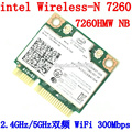 Intel banda dual inalámbrico-n 7260 7260hmw nb media mini módulo de pcie pci-express tarjeta wifi wlan 802.11 a b g n
