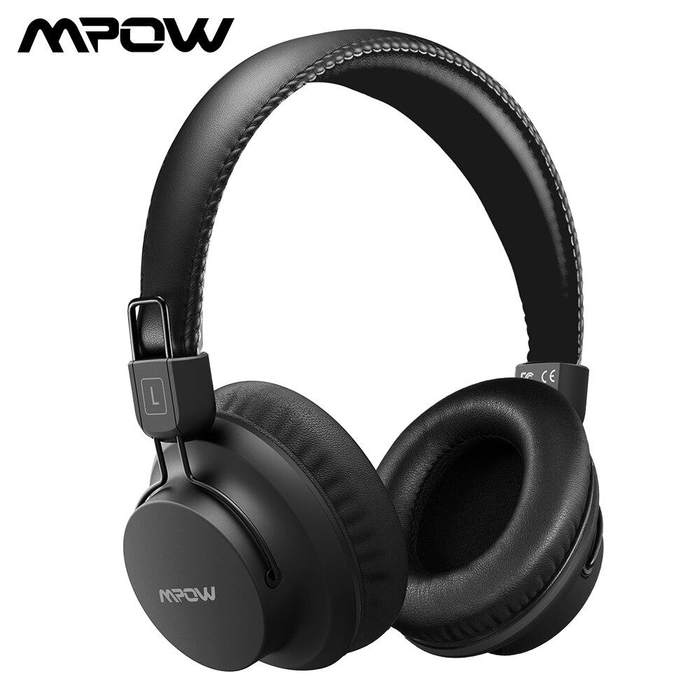 Mpow H1 Bluetooth Hoofdtelefoon Draadloze Koptelefoon Met Ingebouwde Microfoon Over Ear Oortelefoon Bedrade/Draadloze Modus Voor PC Tafel iOS android-in Bluetooth Oordopjes & Koptelefoon van Consumentenelektronica op  Groep 1