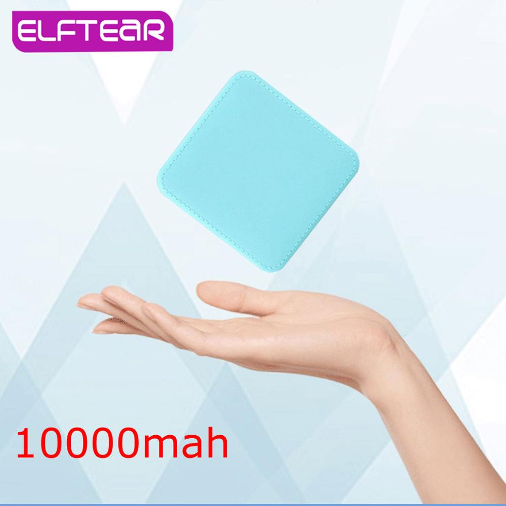 ELFTEAR 10000Mah Simple Fashion External Battery  Mini Portable Charging Powerbank Ultra-thin For Phone Xiaomi Huawei(China)