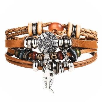 Vintage Multilayer Leather Bracelet for Men Bracelets Jewelry Men Jewelry New Arrivals Metal Color: BJDY620