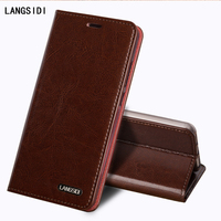 LANGSIDI Flip Genuine Leather Case For Samsung Galaxy Note II 2 N7100 Cover Stand Wallet Card Holder Magnetic Business Bag