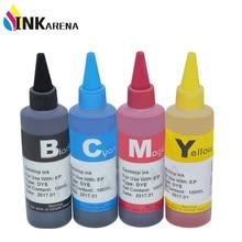 Универсальный 4 цвета чернилами для Epson 100 мл дополнительный набор для Epson Premium объем чернил бутылка для epson принтер картридж