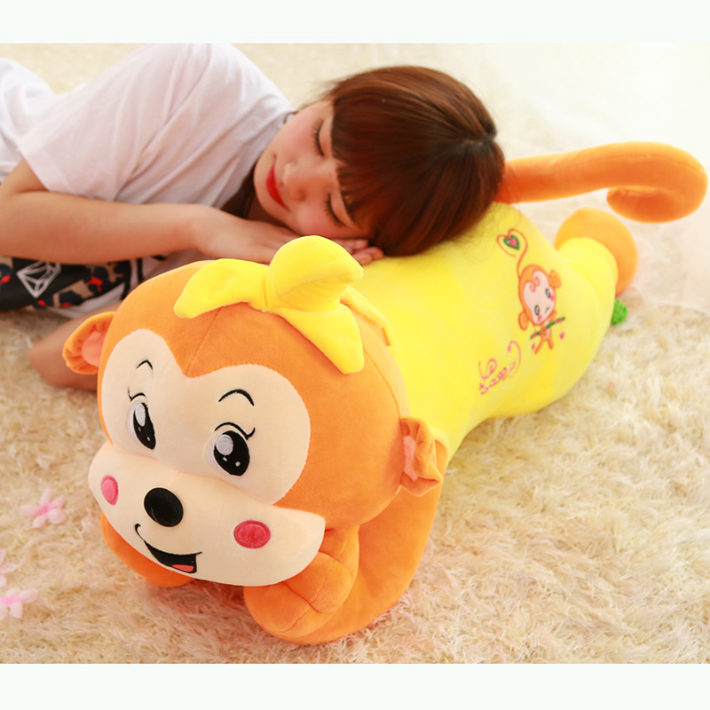 65cm 4 Color Lovely Lying Monkey doll Plush Toy Cartoon Monkey Stuffed Animal Children Birthday Gift
