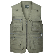 Summer Men Sleeveless Baggy Jacket With Many Pockets Male Casual Regular Fit Multi Pocket Photographer Vest Waistcoat For Mens
