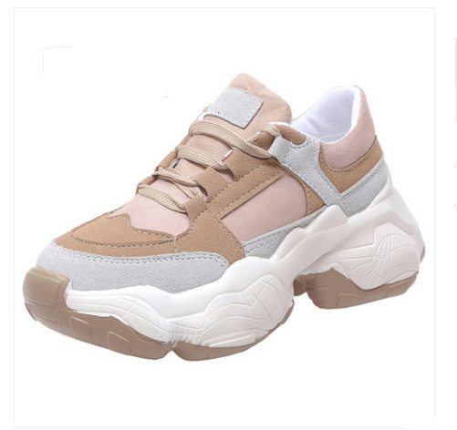 Womens Vulcanize Shoes 2019 Spring Autumn Women Sneaker Leisure Thick Soled Shoes Lady  White Shoes  Flats Zapatos De MujerWomens Vulcanize Shoes 2019 Spring Autumn Women Sneaker Leisure Thick Soled Shoes Lady  White Shoes  Flats Zapatos De Mujer