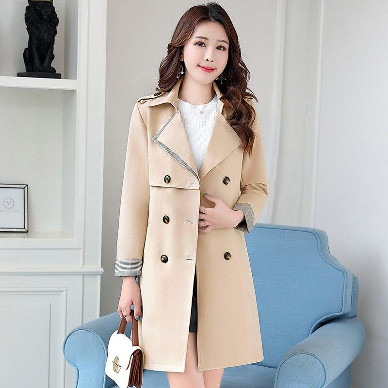 Nouveau black Longue Manteau Section Coupe Femmes brick Féminine Veste Automne Harajuku Coréenne White Survêtement Vêtements Color Rue blue vent Vintage rrqav