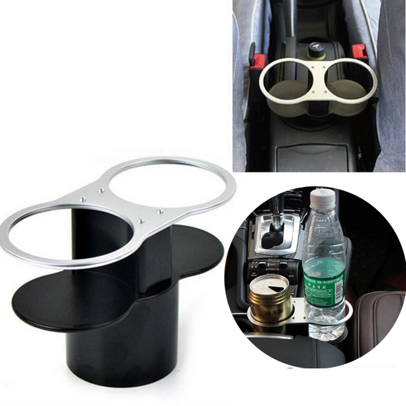 Universal Car Double Wedge Between Seat Dual Drink Cup Water Beverage Car Holder For Drinks Mount Hole Bottle Stand Car Styling