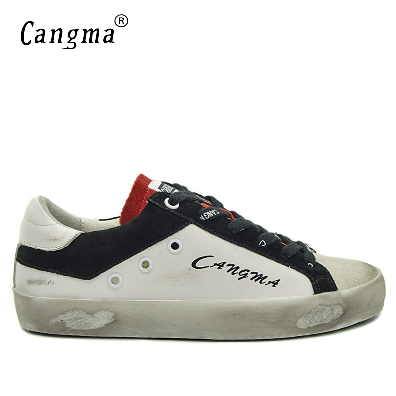 CANGMA Big Size Men Shoes Brand White Retro Mens Shoes Genuine Leather Suede Casual Designer Footwear Flats Male Shoe Luxury