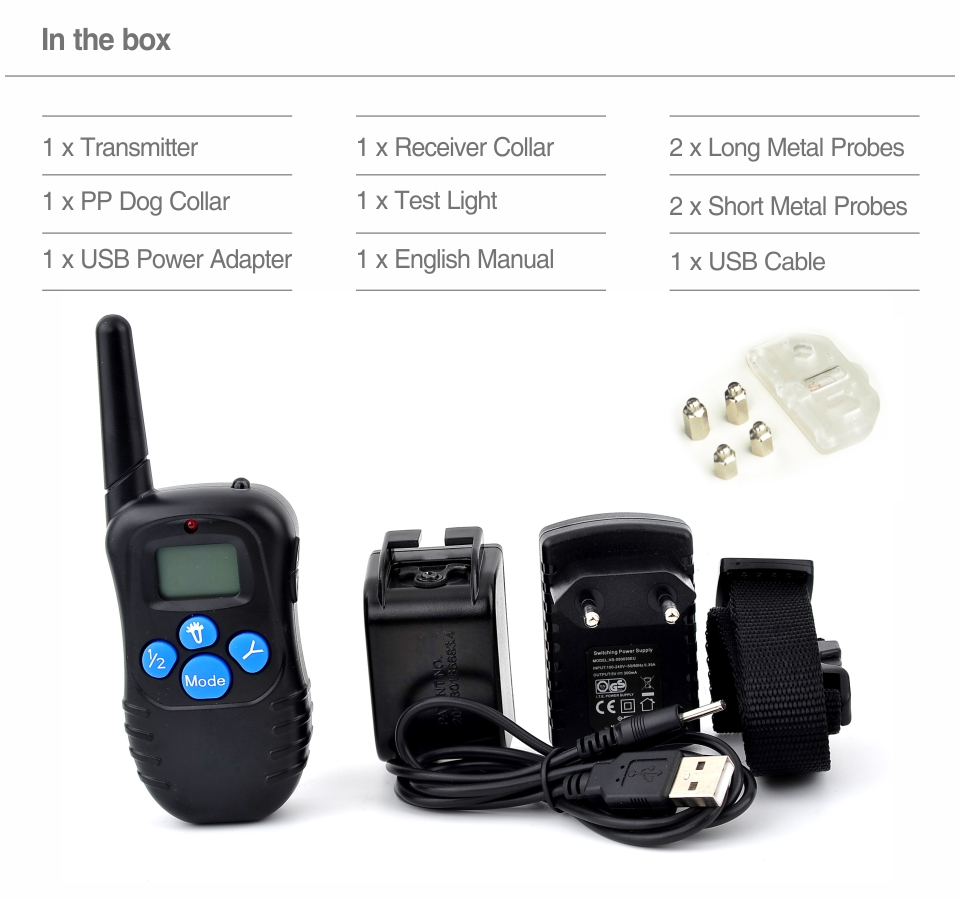 7th Dog Electric Collar PET998DRB