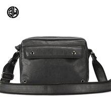 ETONWEAG Hot Brand Quality Leather Men Travel Bags Fashion Casual Student Shoulder Bag Leisure Solid Men Messenger Bags