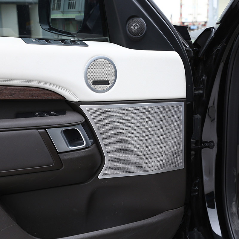 For Land Rover Discovery 5 LR5 2017 2018 Car-styling Aluminum alloy Car Door Speaker Cover Trim Accessories 4PCSFor Land Rover Discovery 5 LR5 2017 2018 Car-styling Aluminum alloy Car Door Speaker Cover Trim Accessories 4PCS