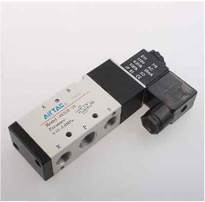 4V310-10 5Ports2Position Single Solenoid Pneumatic Air Valve 3/8 BSPT AC110V 1pcs 4v310 10 dc24v 5way 2 position single solenoid pneumatic air valve 3 8 bspt brand new