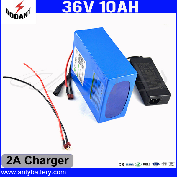 Electric Bicycle Battery 36V 10Ah Use 18650 Cell With 2A Charger Lithium Rechargeable Battery 36V Built-in 30A BMS Free Shipping 30a 3s polymer lithium battery cell charger protection board pcb 18650 li ion lithium battery charging module 12 8 16v