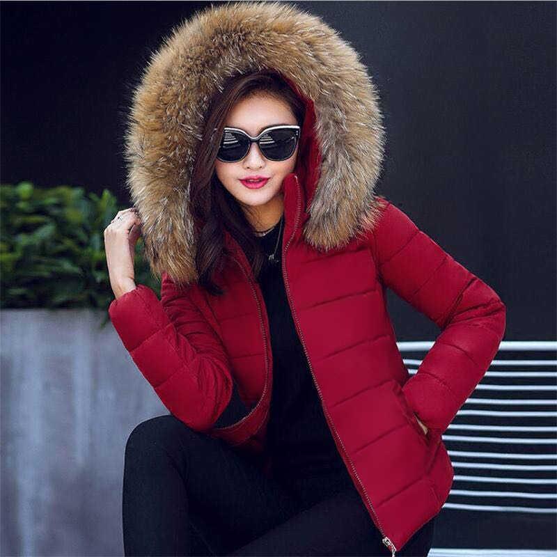 Nep Bont Kraag Winter Vrouwelijke Jas Nieuwe 2019 Mode Winter Jas Vrouwen Parka Warm Hooded Winter Jas Vrouwen Plus size s-5XL