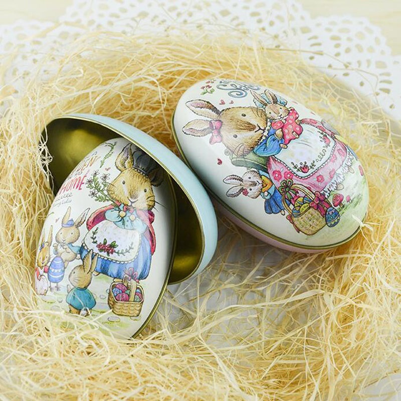 100pcslot zakka mini tin box easter egg shaped mixed pattern 100pcslot zakka mini tin box easter egg shaped mixed pattern wedding tea candy boxes souvenir children gift free shipping in gift bags wrapping supplies negle Images