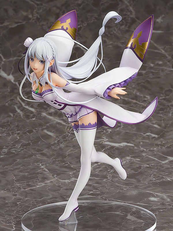 Аниме Re: Zero начало жизни в другом мире Emilia Девушка ПВХ 1/7 фигурку смолы Коллекция Модель игрушки куклы