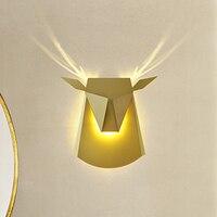 Рога оленя Настенные светильники 6 Вт led современные настенные светильники светильник домой Освещение в помещении Ресторан Обеденная клуб