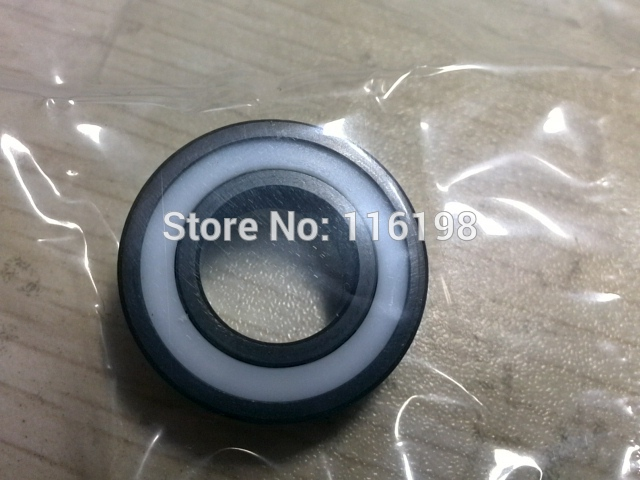 6000-2RS full SI3N4 ceramic deep groove ball bearing 10x26x8mm 6000 2RS 6000 2rs sealed deep groove ball bearing 10mm inner dia black silver tone