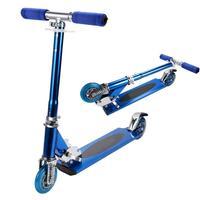 Children Kids Adjustable Folding 2 Wheels Blue 10cm/3.9inch Aluminum (under 7 years old) Kickboard Kick Scooter