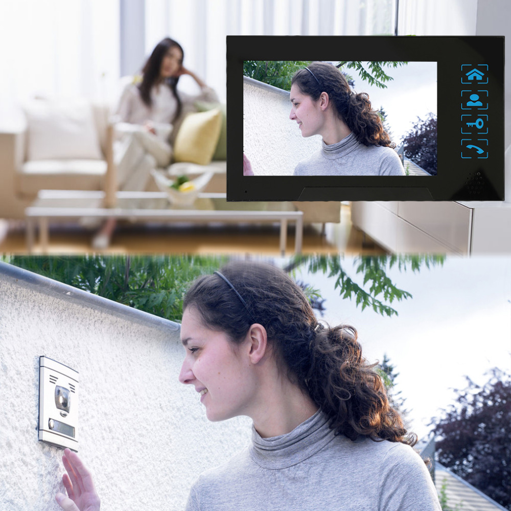 Home Security 7 Inch TFT Touch Screen LCD Color Video Door Phone Doorbell Intercom system IR Night Vision Eye Camera Doorphone 7 inch touch lcd monitor wired video intercom doorbell door phone door viewer night vision home security surveillance system