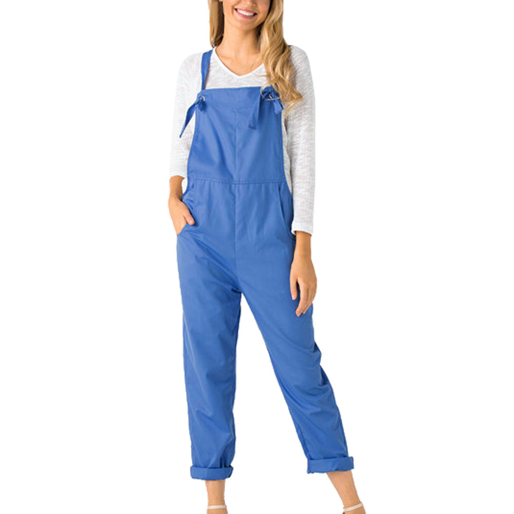 jumpsuit   in Women's   Jumpsuits   Loose Dungarees Loose Long Pockets Rompers Pants Trousers Hot Sale Free Shipping #25