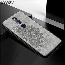 For OPPO A9X Case Shockproof Cover Soft Silicone Luxury Cloth Texture Phone A9 X Fundas