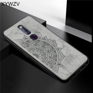 Image 1 - Pour OPPO A9X coque antichoc souple Silicone luxe tissu Texture coque de téléphone pour OPPO A9X couverture de téléphone pour OPPO A9 X Fundas