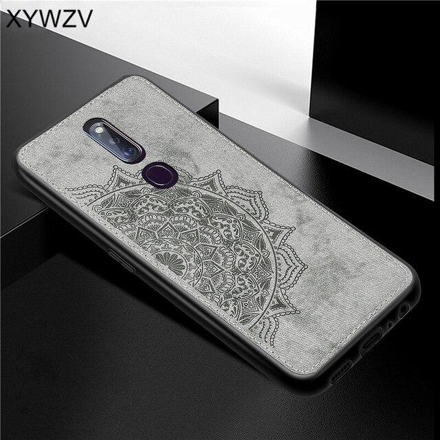 Pour OPPO A9X coque antichoc souple Silicone luxe tissu Texture coque de téléphone pour OPPO A9X couverture de téléphone pour OPPO A9 X Fundas