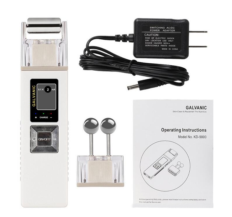 Galvanic Microcurrent iontophoresis face skin lift firming machine, Anti -aging Massager, Skin Care Spa Salon цена