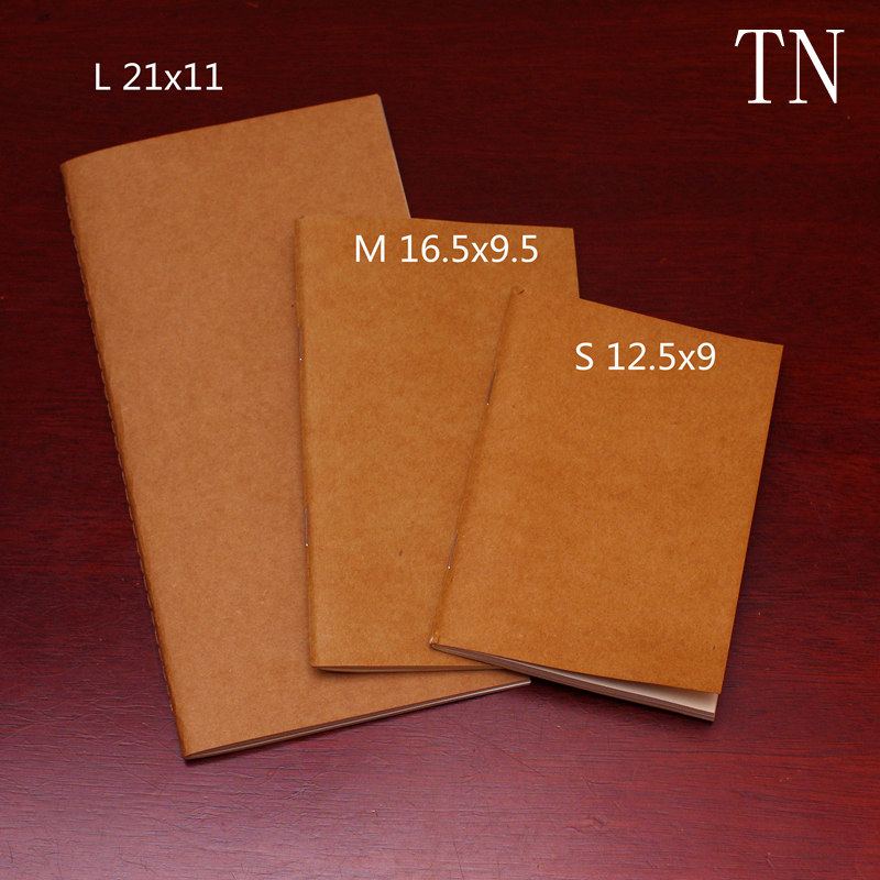 Traveler'S Notebook Refill L/M/S 3 Sizes Replace Notebook Insert Standard/portable/passport Size Krart Paper Cover Diary