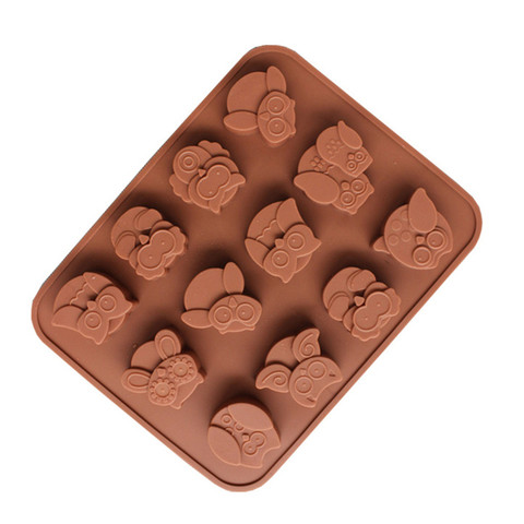 Dropshipping 12 Owls Silicone Cake Bread Chocolate Jelly Candy Baking Mould Craft Mold Multan