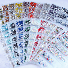 7 Sizes Nail Rhinestones Decorations For Art Super Shine Flatback Crystal AB&Crystal Clear Manicure Nails SS3-SS10