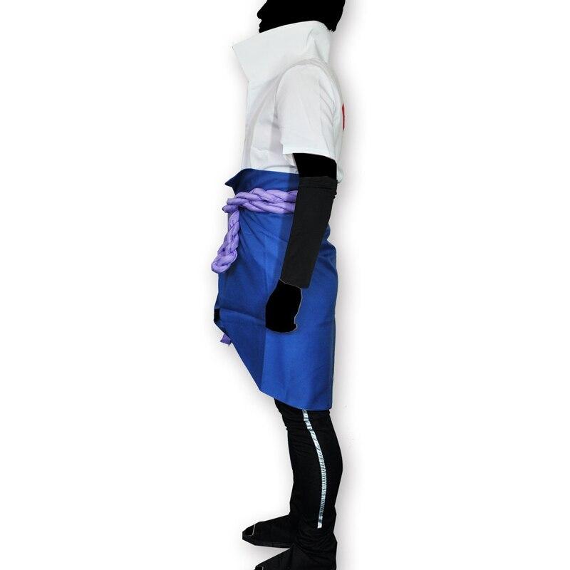 Japanska Anime Naruto Shippuden Kläder Uchiha Sasuke Cosplay - Maskeradkläder och utklädnad - Foto 2