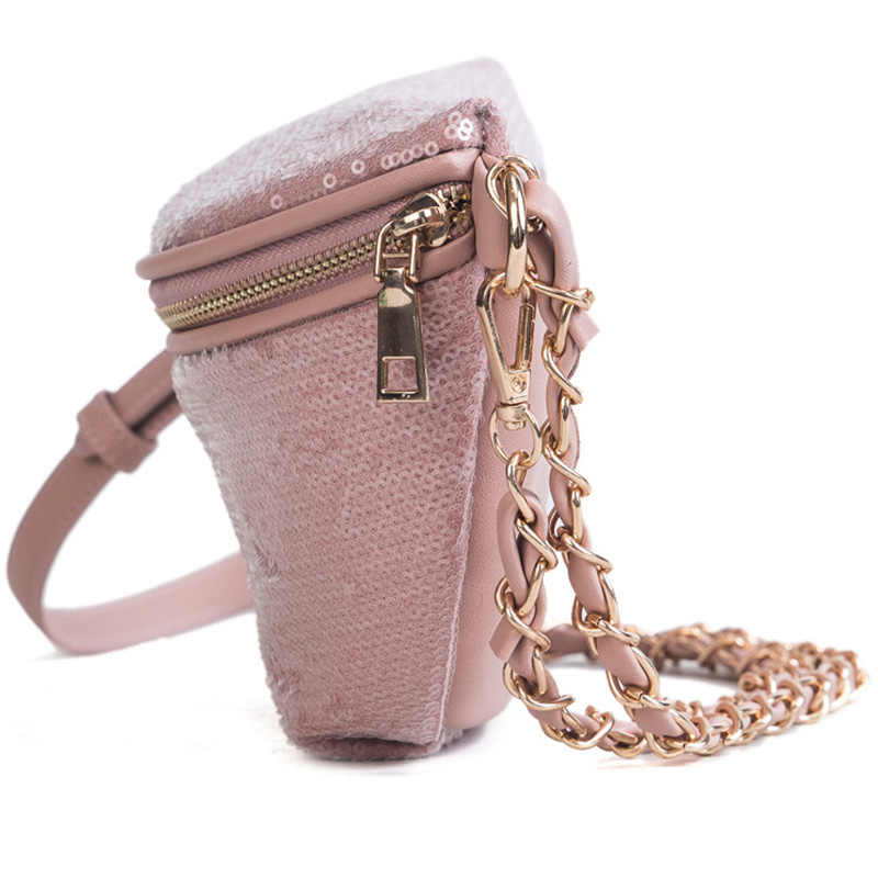 09350af3ae09 MENGXILU Shine Women Waist Bag Ladies Women's Waist Bag 2018 Fashion Chains  Belt Messenger Bags Handbags Women Famous