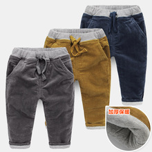 The boy cotton padded trousers 2017 thick corduroy winter new Korean children children baby pants