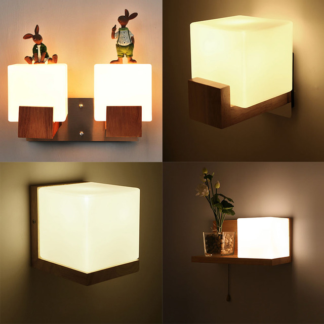 US $49.88 14% OFF|Wall Light Led Wall Mounted Bedside Reading Lamps 110  220v Stair Bedroom Wall Lighting Contemporary Lamp Luminarias-in LED Indoor  ...