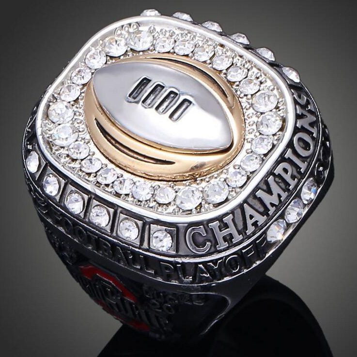 Cool Wide Rings Ohio State Buckeyes American Football Replica Super Bowl Rings Fashion Jewelry Sports Fans Collection