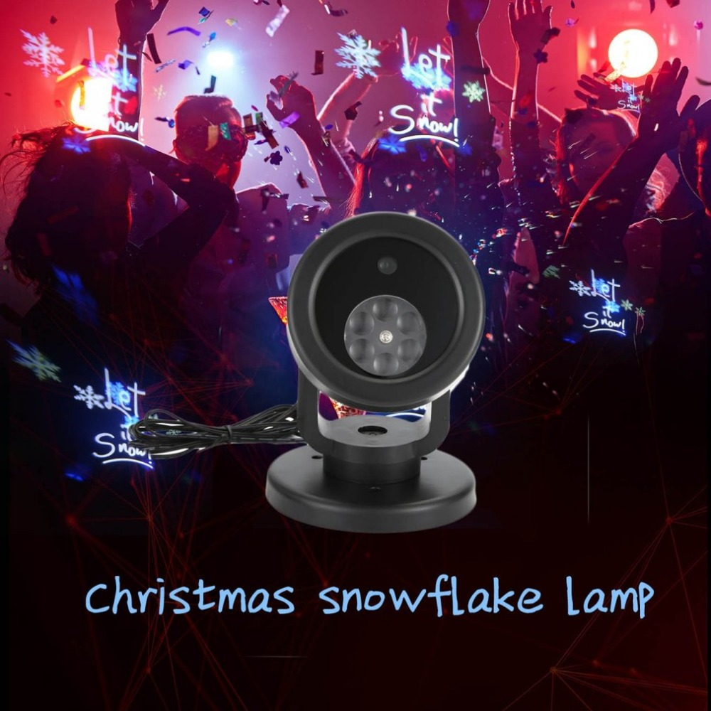 Waterproof Christmas Snow Laser Snowflake Projector LED Stage Light Party Lights Garden Lamp Outdoor LED Fairy Light Projection недорого