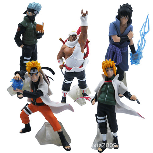 QICSYXJ Japanse Anime NARUTO Action Figure Naruto Hatake Kakashi Uchiha Sasuke Yondaime Hokage Model Doll for chirldren original box anime naruto action figures lightning blade hatake kakashi figure pvc model 12cm collection children baby kids toys