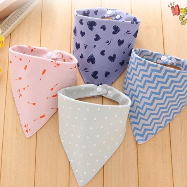 Baberos de bebé impermeable triángulo de algodón Baberos Bandana de doble capa niños Baberos babero recién nacido Slabber paño absorbente