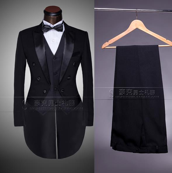 2017 new arrival slim men tuxedo suit set with pants mens suits wedding groom formal dress custom suit + pant + tie + vest 4XL