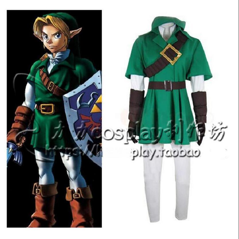Us 53 88 5 Off Anime The Legend Of Zelda Cos Breath Of The Wild Link Costume Dress Whole Set Suit For Halloween Carnival Cosplay Costume On