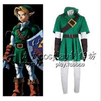 Anime The Legend of Zelda Cos Breath of the Wild Link Costume Dress Whole Set Suit For Halloween Carnival Cosplay Costume
