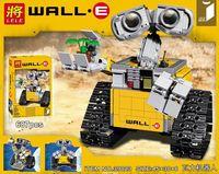 New LELE 009 687Pcs Idea Robot WALLE Model Building Kits Figures Blocks Bricks Children Toys Compatible
