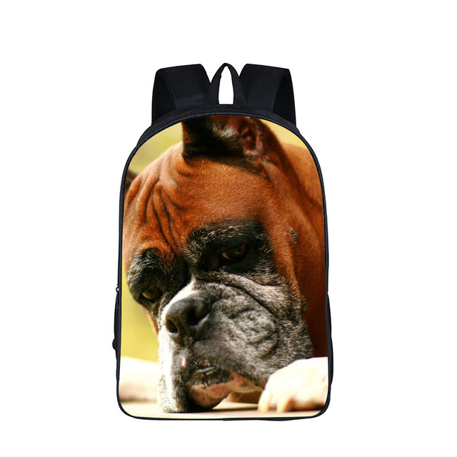 Dog Boxer German Shepherd Backpack For Teenager Children School Bags Staffordshire Bull Terrier Animal School Backpack Kids Bag