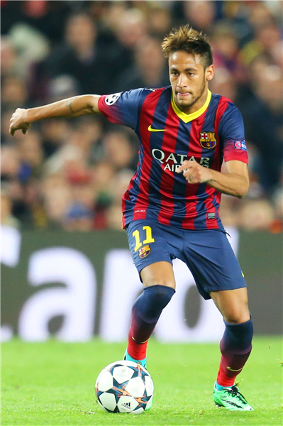 Custom Canvas Art Neymar Poster JR Barcelona Wall Stickers Football Wallpaper Soccer Ball Sticker Mural 2115