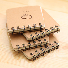 1pc 8.5*10cm Stationery Portable Notepad Creative Weather Forecast Coil Portable Notebook Thick Student Diary handbook password with lock diary student creative handbook notebook a5 notebook thick notebook diary
