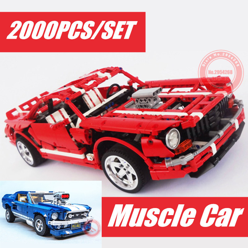 New Muscle Car 1967 GT500 Creator Racing Car fit technic Ford Mustang MOC Building Blocks Bricks