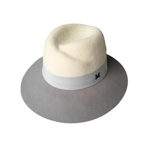 DACEY CO Autumn Winter Classic White Woolen Fedora Hat 7113842b61d3