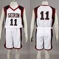 SEIRIN куроко нет Basuke Корзина белый школы баскетбол костюм мужской униформы спортивной одежды № 11 Куроко Tetsuya косплей костюм